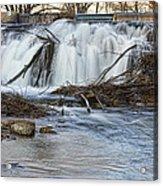 St Vrain River Waterfall Slow Flow Acrylic Print