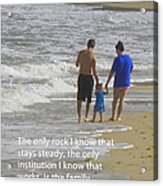 Stability Of Family Acrylic Print