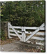 Stable Gate Acrylic Print