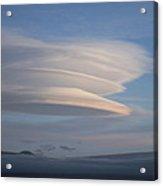 Stack Of Lenticular Clouds Over Mauna Kea, Hawaii Acrylic Print