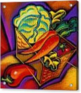 Staff For Yummy Salad Acrylic Print