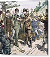 Stagecoach Robbery, 1880s Acrylic Print by Granger