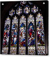 Stained Glass - Bath Abbey Acrylic Print