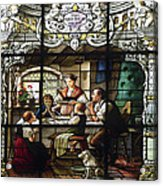 Stained Glass Family Giving Thanks Acrylic Print