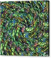 Stained Glass In Abstract Acrylic Print