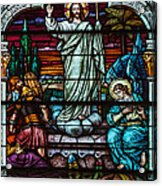 Stained Glass Jesus Acrylic Print