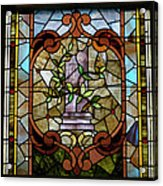 Stained Glass Lc 12 Acrylic Print by Thomas Woolworth