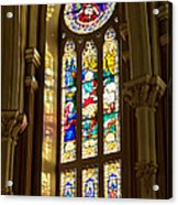 Stained Glass Of St Michaels Basilica Acrylic Print