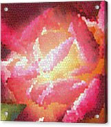 Stained Glass Rose Acrylic Print