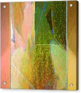 Stained Glass Shower Acrylic Print