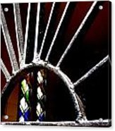 Stained Glass Sun Acrylic Print