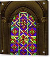 Stained Glass Window In Mezquita Acrylic Print