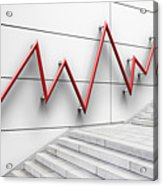 Stair Bannister Shaped Like A Graph Acrylic Print