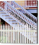 Stairs And White Picket Fence Acrylic Print
