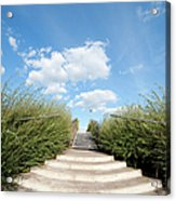 Stairs To The Big Blue Sky Acrylic Print