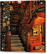 Stairway In Gillette Castle Connecticut Acrylic Print