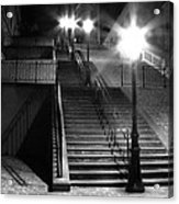 Stairway To Montmartre At Night Acrylic Print