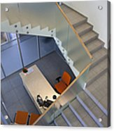 Stairwell In And Office Acrylic Print by Jaak Nilson