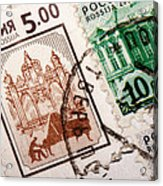 Stamp Collection Acrylic Print by Mustafa Otyakmaz