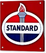 Standard Oil Sign Acrylic Print