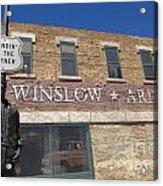Standin On The Corner In Winslow Arizona Acrylic Print