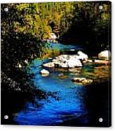 Stanislaus River Acrylic Print by Helen Carson