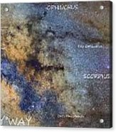 Star Map Version The Milky Way And Constellations Scorpius Sagittarius And The Star Antares Acrylic Print