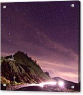 Star On Mountain Hill Acrylic Print