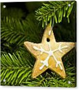 Star Shape Short Bread Cookie Acrylic Print