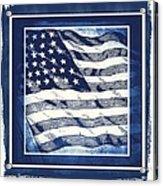 Star Spangled Banner Blue Acrylic Print