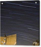 Star Trails Over Ljubljana Acrylic Print
