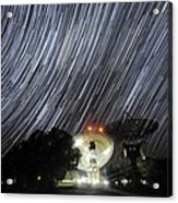 Star Trails Over Parkes Observatory Acrylic Print by Alex Cherney, Terrastro.com