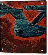 Star Trek Triptec Acrylic Print by David Karasow
