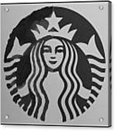 Starbuck The Mermaid In Black And White Acrylic Print
