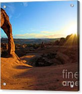 Starburst At Delicate Arch Acrylic Print