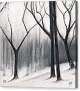 Stark Trees Acrylic Print