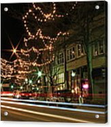Starry Nights - Main Street Nights Acrylic Print