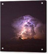Stars And Lightning Acrylic Print