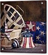 Stars And Stripes Still Life Acrylic Print by Tom Mc Nemar
