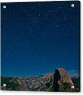Stars Over Half Dome Acrylic Print