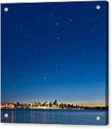 Stars Over Vancouver, Canada Acrylic Print by David Nunuk