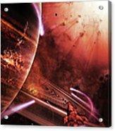 Starships Hone Their Skills Acrylic Print