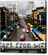 Start From Zero Acrylic Print
