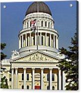 State Capitol Building Sacramento California Acrylic Print by Christine Till