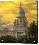 Statehouse At Sunset Acrylic Print