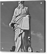 Statue 01 Black And White Acrylic Print
