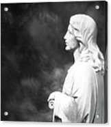 Statue 06 Black And White Acrylic Print