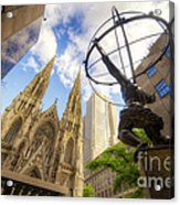 Statue And Spires Acrylic Print