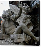 Statue At Piazza Acrylic Print by Suhas Tavkar