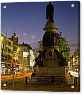 Statue Of A Man On A Pedestal On The Acrylic Print